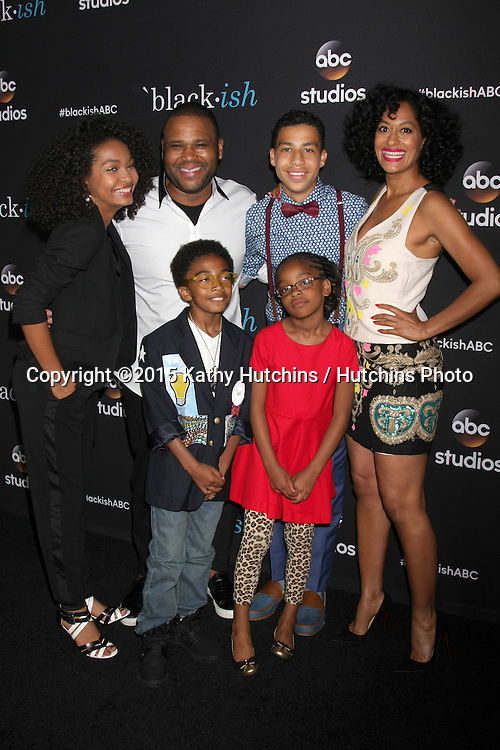 "LOS ANGELES - FEB 17:  (Clockwise from top left) Yara Shahidi, Anthony Anderson, Marcus Scribner, Tracee Ellis Ross, Marsai Martin, Miles Brown at the ""Black-ish"" ATAS event at the Silver Screen Theater at Pacific Design Center on April 17, 2015 in Los Angeles, CA"