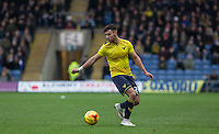 George Baldock of Oxford United on the ball during the Sky Bet League 2 match between Oxford United and Bristol Rovers at the Kassam Stadium, Oxford, England on 17 January 2016. Photo by Andy Rowland / PRiME Media Images.