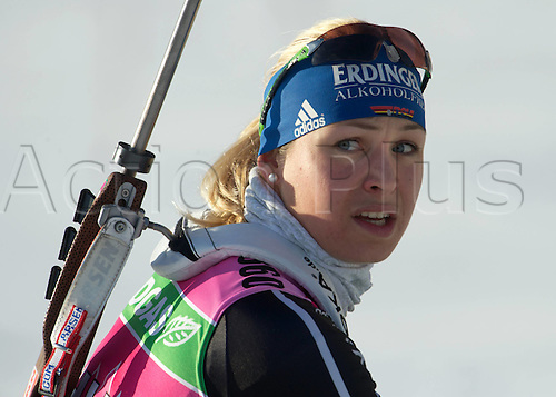 08.12.2011. Hochfilzen, Austria. women Magdalena Nuener ger taking part in the IBU Biathlon World Cup