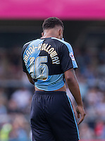Goal scorer Aaron Amadi Holloway of Wycombe Wanderers during the Sky Bet League 2 match between Wycombe Wanderers and York City at Adams Park, High Wycombe, England on 8 August 2015. Photo by Andy Rowland.