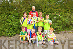 Having fun at the multi-sports camp in Moyvane last week from front l-r were: Matthew Quinn, Gerry Ruddle, Keegan Moloney and Pat Brosnan. Back l-r were: Rebekah Sheehy, Jamie Ruddle, Conor Kissane, Fionn Mulvihill, Ronan Kidney and Bridget Hogan.