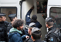 January 5 2018, PARIS FRANCE Demonstration of the Kurds Students near the Palais de l'Elysee against the visit of Turkish President Erdogan who meets French President Macron Paris. Some protesters are arrested by the Police. # MANIFESTATIONS DES ETUDIANTS KURDES CONTRE LA VISITE D'ERDOGAN