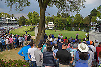 A wide view of the green as Tyrrell Hatton (ENG) barely misses his birdie putt on 17 during round 4 of the World Golf Championships, Mexico, Club De Golf Chapultepec, Mexico City, Mexico. 2/24/2019.<br /> Picture: Golffile | Ken Murray<br /> <br /> <br /> All photo usage must carry mandatory copyright credit (© Golffile | Ken Murray)