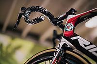 Adam Hansen's (AUS/Lotto-Soudal) customised bike for his 20th consecutive grand tour<br /> <br /> stage 15: Tolmezzo &ndash; Sappada (176 km)<br /> 101th Giro d'Italia 2018