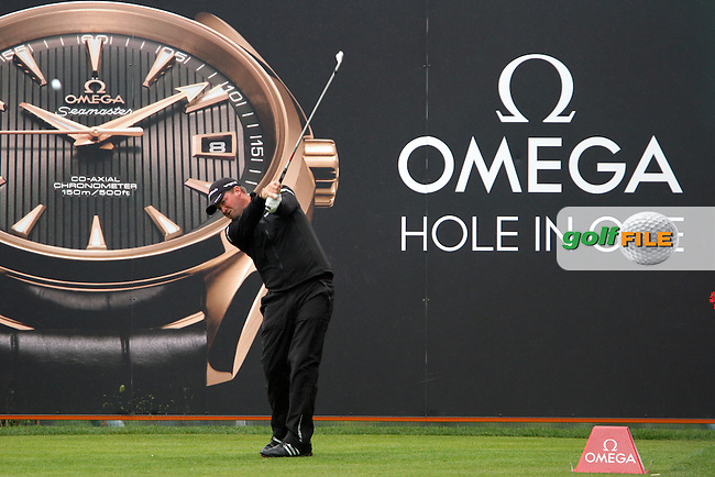 Peter Hanson (SWE) on the 13th on Day 2 of the Omega European Masters 2012, Golf Club Crans-Sur-Sierre, Crans Montana, Switzerland, 31/8/12...(Photo Jenny Matthews/www.golffile.ie)