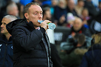 23rd November 2019; Liberty Stadium, Swansea, Glamorgan, Wales; English Football League Championship, Swansea City versus Millwall; Steve Cooper manager of Swansea City before kick off - Strictly Editorial Use Only. No use with unauthorized audio, video, data, fixture lists, club/league logos or 'live' services. Online in-match use limited to 120 images, no video emulation. No use in betting, games or single club/league/player publications