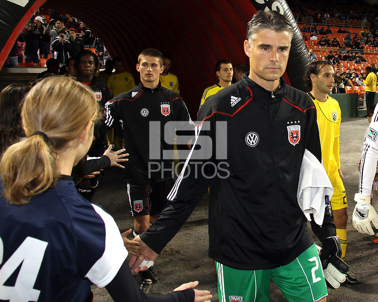 Pat Onstad#20 of D.C. United during the opening match of the 2011 season against the Columbus Crew at RFK Stadium, in Washington D.C. on March 19 2011.D.C. United won 3-1.