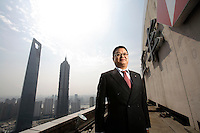 Richard Li, HSBC's Shanghai branch manager, photographed at the bank's roof top in Shanghai, China on 21 March, 2008.