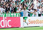 Stockholm 2014-05-24 Fotboll Superettan Hammarby IF - Varbergs BoIS FC  :  <br /> Hammarbys Pablo Pinones-Arce jublar efter att ha gjort 2-0 i den andra halvleken<br /> (Foto: Kenta J&ouml;nsson) Nyckelord:  Superettan Tele2 Arena HIF Bajen Varberg BoIS jubel gl&auml;dje lycka glad happy