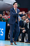 Panathinaikos coach Xavi Pascual during Turkish Airlines Euroleague Quarter Finals 3rd match between Real Madrid and Panathinaikos at Wizink Center in Madrid, Spain. April 25, 2018. (ALTERPHOTOS/Borja B.Hojas)