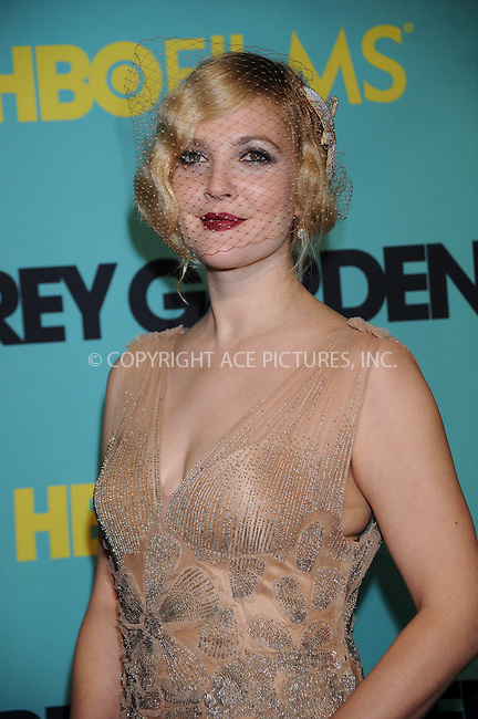 WWW.ACEPIXS.COM . . . . . ....April 14 2009, New York City....Actress Drew Barrymore at the HBO Films premiere of 'Grey Gardens' at The Ziegfeld Theater on April 14, 2009 in New York City.....Please byline: KRISTIN CALLAHAN - ACEPIXS.COM.. . . . . . ..Ace Pictures, Inc:  ..tel: (212) 243 8787 or (646) 769 0430..e-mail: info@acepixs.com..web: http://www.acepixs.com