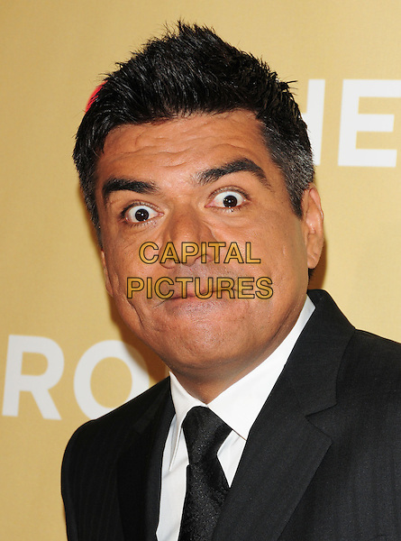 GEORGE LOPEZ .at The 3rd Annual CNN Heroes: An All-Star Tribute held at The Kodak Theatre in Hollywood, California, USA,  November 21st 2009                                                                   .portrait headshot funny black tie white shirt .CAP/RKE/DVS.©DVS/RockinExposures/Capital Pictures