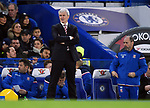 An unhappy Stoke City Manager Mark Hughes during the premier league match at Stamford Bridge Stadium, London. Picture date 30th December 2017. Picture credit should read: Robin Parker/Sportimage
