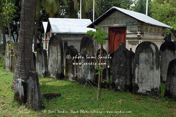 Cemetery of Personalities near Hukuru Miskiiy (former Friday Mosque), Malé, Maldives.