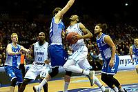 GRONINGEN - Basketbal, Donar - Landstede Zwolle, Martiniplaza, Dutch Basketbal league, seizoen 2018-2019, 02-02-2019, Donar speler  botst op Landstede speler Ralf de Pagter