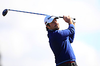 Victor Dubuisson (FRA) on the 5th tee during Round 4 of the Betfred British Masters 2019 at Hillside Golf Club, Southport, Lancashire, England. 12/05/19<br /> <br /> Picture: Thos Caffrey / Golffile<br /> <br /> All photos usage must carry mandatory copyright credit (© Golffile | Thos Caffrey)