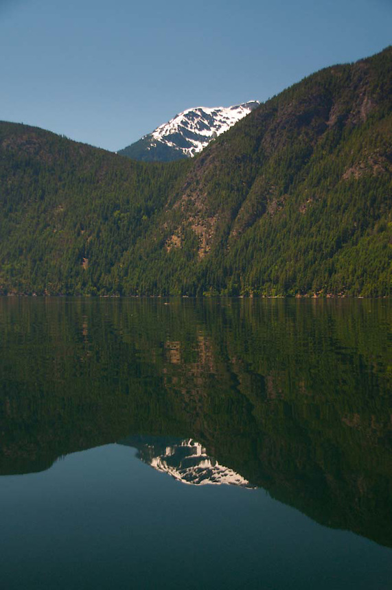 Mountain Reflection, Ross Lake National Recreation Area, North Cascades National Park, Washington, US