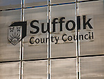 Sign for Suffolk County Council, England