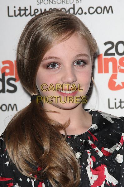 EDEN TAYLOR DRPAER .At the Inside Soap Awards 2010 held at Shaka Zulu, Camden, London, England, September 27th 2010..portrait headshot  black red white print side ponytail .CAP/JIL.©Jill Mayhew/Capital Pictures