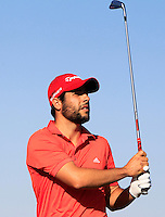 Adrian Otaegui (ESP) on the 8th tee during Round 1 of the 2015 Alfred Dunhill Links Championship at Kingsbarns in Scotland on 1/10/15.<br /> Picture: Thos Caffrey | Golffile