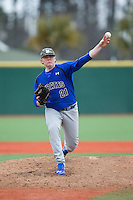 Seton Hall Pirates starting pitcher Anthony Pacillo (21) in action against the Virginia Cavaliers at The Ripken Experience on February 28, 2015 in Myrtle Beach, South Carolina.  The Cavaliers defeated the Pirates 4-1.  (Brian Westerholt/Four Seam Images)