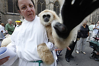 The 25th Annual Feast of St. Francis Parade of Exotic Animals at the Cathedral of St. John the Divine in Manhattan, NY on Sunday, October 4, 2009.  The day, inspired by St. Francis of Assisi, included a &quot;blessing of the beasts&quot; where guests brought their pets to receive a special blessing from Cathedral clergy.<br /> <br /> PICTURED: