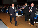 St Johnstone Hall of Fame Dinner, Perth Concert Hall...05.10.13<br /> Roddy Grant is applauded as he steps up to receive his award<br /> Picture by Graeme Hart.<br /> Copyright Perthshire Picture Agency<br /> Tel: 01738 623350  Mobile: 07990 594431