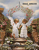 CHILDREN, KINDER, NIÑOS, paintings+++++,USLGSK0100,#K#, EVERYDAY ,Sandra Kock, victorian ,angels