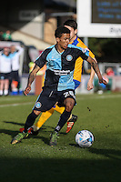 Jerell Sellars of Wycombe Wanderers during the Sky Bet League 2 match between Wycombe Wanderers and Mansfield Town at Adams Park, High Wycombe, England on 25 March 2016. Photo by David Horn.