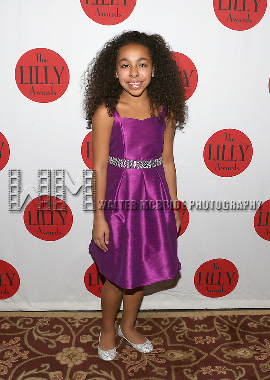 Grace Capeless backstage at The Lilly Awards Broadway Cabaret'   at The Cutting Room on November 9, 2015 in New York City.