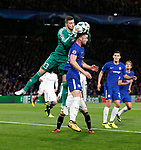 Chelsea's Gary Cahill tussles with Qarabag's Ibrahim Sehic during the champions league match at Stamford Bridge Stadium, London. Picture date 12th September 2017. Picture credit should read: David Klein/Sportimage
