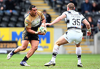 PICTURE BY VAUGHN RIDLEY/SWPIX.COM - Rugby League - Super League - Hull FC v Wigan Warriors - KC Stadium, Hull, England - 22/04/12 - Wigan's Jeff Lima.