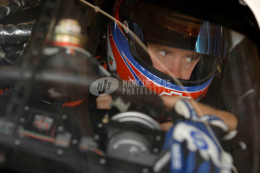 Oct 12, 2006; Concord, NC, USA; Nascar Nextel Cup driver Brian Vickers (25) during practice for the Bank of America 500 at Lowes Motor Speedway. Mandatory Credit: Mark J. Rebilas