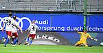 0:2 Tor, Jubel, v.l. Adrian Fein, Ewerton, Torschuetze Kevin Behrens (Sandhausen, verdeckt), Rick van Drongelen, Torwart Julian Pollersbeck (HSV)<br />Hamburg, 28.06.2020, Fussball 2. Bundesliga, Hamburger SV - SV Sandhausen<br />Foto: VWitters/Witters/Pool//via nordphoto<br /> DFL REGULATIONS PROHIBIT ANY USE OF PHOTOGRAPHS AS IMAGE SEQUENCES AND OR QUASI VIDEO<br />EDITORIAL USE ONLY<br />NATIONAL AND INTERNATIONAL NEWS AGENCIES OUT