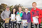 Smiles all round as students from Colaiste na Sceilge receive their Junior Cert results pictured here l-r; Stephen Cronin, Shaleen O'Connell, Meabh Daly, Hannah Sugrue & Timothy O'Sullivan.
