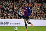 Nelson Semedo of FC Barcelona runs with the ball during the La Liga match between Barcelona and Real Sociedad at Camp Nou on May 20, 2018 in Barcelona, Spain. Photo by Vicens Gimenez / Power Sport Images