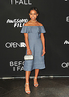 www.acepixs.com<br /> <br /> March 1 2017, LA<br /> <br /> Asia Monet Ray arriving at the premiere of 'Before I Fall' at the Directors Guild Of America on March 1, 2017 in Los Angeles, California<br /> <br /> By Line: Peter West/ACE Pictures<br /> <br /> <br /> ACE Pictures Inc<br /> Tel: 6467670430<br /> Email: info@acepixs.com<br /> www.acepixs.com