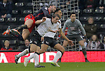 Stephen Warnock of Derby fouls Hal Robson-Kanu of Reading - Football - FA Cup 5th round - Derby County vs Reading - IPro Stadium Derby - Season 2014/15 - 14th February 2015 - Photo Malcolm Couzens/Sportimage