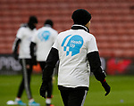 Heads Up t-shirts worn during the warm up during the Premier League match at Bramall Lane, Sheffield. Picture date: 9th February 2020. Picture credit should read: Simon Bellis/Sportimage