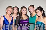Emer Cronin Currrow, Noelle O'Connor Tralee, Amy Dunlea Scartaglen, Nuala O'Connor Scartaglen and Katie Mitchell Castleisland enjoying the Kingdom Hunt Ball in the Hotel Europe, Fossa on Saturday night