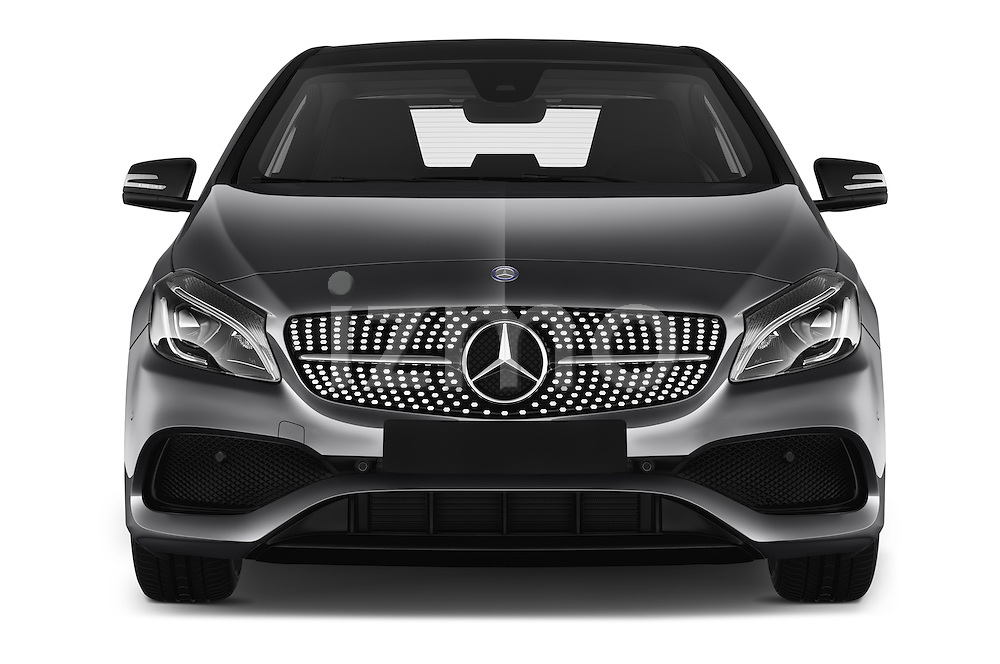 Car photography straight front view of a 2016 Mercedes Benz A-Class Fascination 5 Door Hatchback Front View