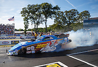 Jun 10, 2016; Englishtown, NJ, USA; NHRA funny car driver John Force during qualifying for the Summernationals at Old Bridge Township Raceway Park. Mandatory Credit: Mark J. Rebilas-USA TODAY Sports