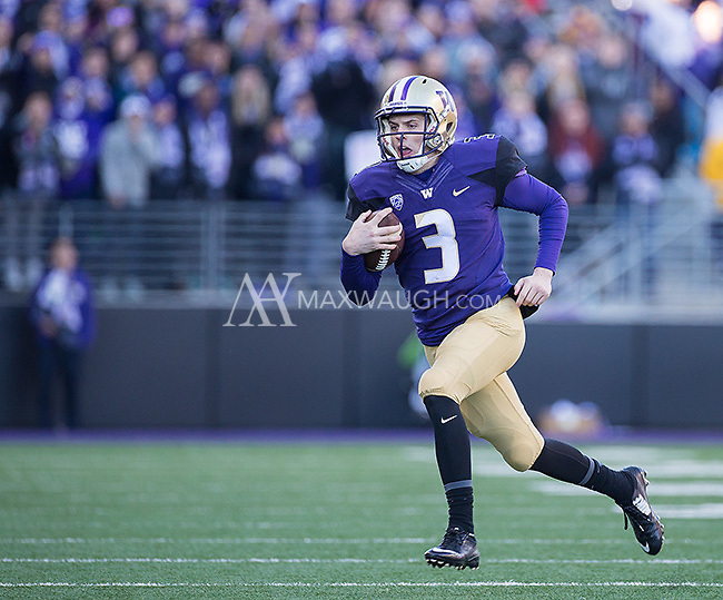 Jake Browning takes off.