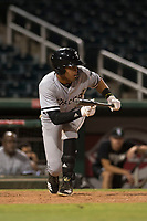 AZL White Sox shortstop Lency Delgado (10) shows bunt during an Arizona League game against the AZL Indians 1 at Goodyear Ballpark on June 20, 2018 in Goodyear, Arizona. AZL Indians 1 defeated AZL White Sox 8-7. (Zachary Lucy/Four Seam Images)