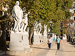 Statues of Spanish monarchs, Plaza de Oriente, Madrid, Spain