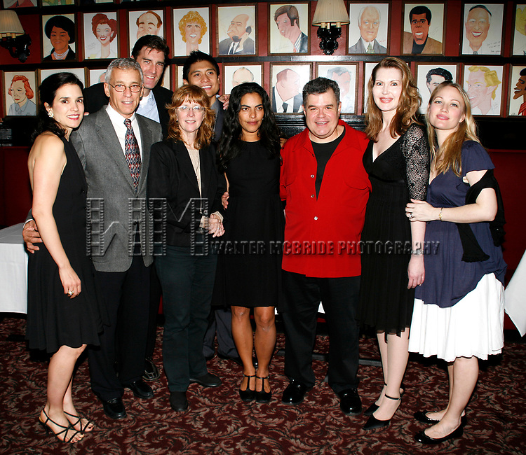 Laura Koffman, Mark LaMura. Patrick Boll, Pamela Hall (Director) , Paolo Maontalban (Producer), Sarita Choudhury, Michael Badalucco, Myra Bairstow (Playwright) & Sarah Wynter<br />