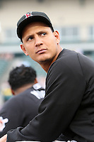 Indianapolis Indians pitcher Wilfredo Ledezma during a game vs. the Rochester Red Wings at Frontier Field in Rochester, New York;  July 17, 2010.   Indianapolis defeated Rochester 10-7.  Photo By Mike Janes/Four Seam Images