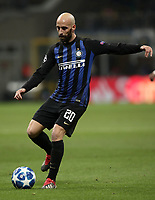 Football: UEFA Champions League -Group Stage - Group B - FC Internazionale Milano vs PSV Eindhoven, Giuseppe Meazza  (San Siro) Stadium, Milan Italy, December 11, 2018.<br /> Inter Milan's Borja Valero in action during the Uefa Champions League football match between Inter Milan and PSV Eindhoven at Giuseppe Meazza  (San Siro) Stadium in Milan on December 11, 2018. <br /> UPDATE IMAGES PRESS/Isabella Bonotto
