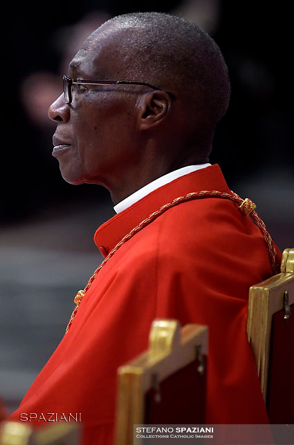 Cardinal Jean Zerbo.Pope Francis leads a consistory for the creation of five new cardinals  at St Peter's basilica in Vatican.  from countries  : El Salvador, Laos, Mali,Sweden and Spain.<br /> Cardinal Gregorio Rosa Chavez from Salvador;Cardinal Louis-Marie Ling Mangkhanekhoun from Laos;Cardinal Anders Arborelius from Sweden;Cardinal Jean Zerbo from Mali;Cardinal Juan José Omella of Spainon June 28, 2017