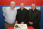 Bosco McDermot  with Fr.Martin and incoming priest Fr. John McAlinden at the retirement party for Fr. Martin Kenny in Mell NS...Photo NEWSFILE/Jenny Matthews.(Photo credit should read Jenny Matthews/NEWSFILE)....This Picture has been sent you under the condtions enclosed by:.Newsfile Ltd..The Studio,.Millmount Abbey,.Drogheda,.Co Meath..Ireland..Tel: +353(0)41-9871240.Fax: +353(0)41-9871260.GSM: +353(0)86-2500958.email: pictures@newsfile.ie.www.newsfile.ie.FTP: 193.120.102.198.